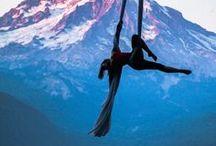 AERIALS / Beautiful aerial poses, aerial silks, hoop, trapeze, rope, etc