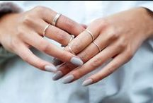 Delicate Finishes / Delicate jewelry inspiration: delicate rings, delicate necklaces, delicate layers