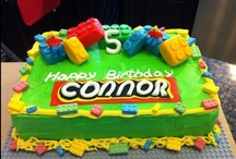 Lego Birthday Cakes / A wide range of Lego themed Birthday Cakes and cupcakes.