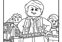 Lego Coloring Pages / by Hot Legos
