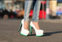 These shoes were meant for walking / The higher the heel, the closer to heaven you feel