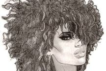 African Hairstyles / About afrocentric fashion, big hair, bright colours .....