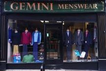 Gemini Menswear Hanley / Established in 1975 Gemini offers everything from men's clothing, casual wear, smart, formal wear, men's underwear, shoe's & boot's, knitwear, over coats, sport jackets and formal wear & suits. Everything for the modern man, and wedding requirements. New for 2014 Men's leather hand luggage.