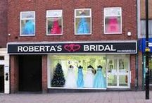 Robertas Bridal / Bridal wear stockist, designer brands such as Mori Lee, Alfred Angelo, Opulence. UK made veils and tiaras.Based in Burslem, we sell a range of beautiful bridal gowns, bridesmaid dresses, flowergirl dresses, prom gowns and accessories. www.onestopweddingshopstaffordshire.co.uk