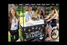 Lanza's Traditional Ice Cream / Having a wedding or corporate ⁄ special event? why not surprise your guests with our luxurious ice cream and nostalgic sweet supply service. Watch their faces light up with delight when they see us arrive on our retro bicycle to distribute an abundance of treats. Our ice cream bicycle hire packages start from just £1 per person and can save you money on costly venue dessert packages. www.onestopweddingshopstaffordshire.co.uk