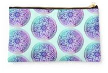 STUDIO POUCHES  from Kanvisstyle design / The Redbubble pouch comes in two different sizes and a variety of designs. Which makes it infinitely more practical for storing stuff than a kangaroo pouch .Available on Redbubble #Trend #girly #gift #wearing #woman #young #fashion #trendy #beauty #cute   #Accessories  #colors, #pattern, #background, #dark, #abstract, #diamonds, #vertices #redbubble  #art #artprints #graphicdesign