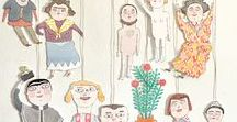 paper dolls and puppets / for printing, paper puppets, paper dolls, for creative kids, vintage pictures