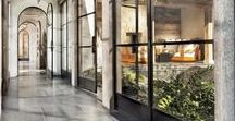 veranda and glasshouse / glass roof, glass wall, winter garden, greenhouse