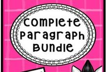 Complete Paragraph Bundle / Everything you need to teach paragraph construction with four of my popular writing packets: Color coding and outlining, topic sentences, transitions and conclusions. Priced to save! / by The Teacher Next Door