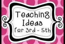 Teaching Ideas for 3rd - 5th / This board is a place for awesome TpT products with lots of creative ideas mixed in. Pinners...please note board requirements...you must pin 3 - 4 free ideas with each paid TpT product...required! ***No super long pins please. / by The Teacher Next Door