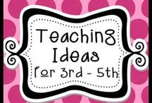 Teaching Ideas for 3rd - 5th / This board is a place for awesome TpT products for 3rd, 4th, and 5th grade clasrooms with lots of creative ideas mixed in. Pinners...please pin 4 free ideas with each paid item. ***No super long pins please. / by The Teacher Next Door