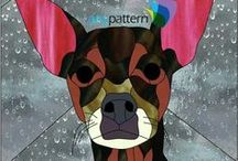 Dog Stained Glass Patterns / Stained glass patterns that feature dogs