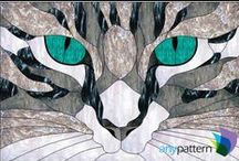 Cat Stained Glass Patterns / Stained glass patterns that feature cats