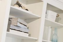 Staging: Shelving & Built-ins / How to properly style shelving and built-ins. Great examples for staging.