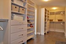 Staging: Closets / An organized closet speaks volumes to Buyers. Great examples of how your closets should look when you're selling your home.
