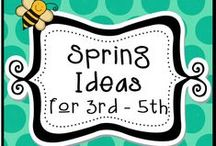 Spring Ideas for 3rd - 5th / Find lots of ideas for your 3rd -5th grade classroom for spring time! Pinners: Please pin with a 4 free to 1 paid resource ratio. Thanks! / by The Teacher Next Door