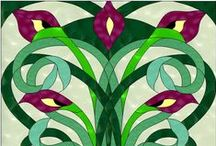 Traditional and Abstract Stained Glass Patterns