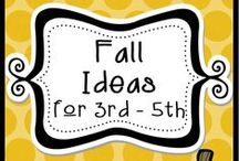 Fall Ideas for 3rd - 5th / From Back to School, all the way to Thanksgiving...This board is just for 3rd - 5th grade classrooms. Pinners, please pin with a 4 to 1 ratio. :) / by The Teacher Next Door