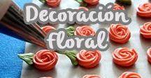 Decoración floral / Tenemos para ti las mejores ideas para darle un look floral a tus más dulces creaciones.