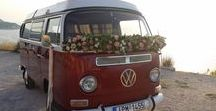 VW van wedding decoration / Decorated vehicles for your wedding day by Gourioti Flowers