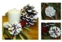 Decoraciones Navideñas con piñas / Diferentes formas de decorar la Navidad con piñas y los productos de V33 y Libéron