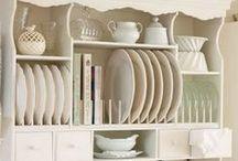 Kitchen / Kitchen, shabby chic, white, pink,