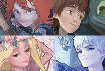 RotBTFD / Elsa ; Anna ; Merida ; Rapunzel ; Jack Frost ; Hiccup Haddock