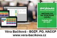 Věra Bačíková - BOZP, PO a HACCP / Nabízíme Vám kompletní servis našich služeb v oblasti BOZP, PO, systém HACCP, pokladní systémy - Dotykačka / EET, hygiena práce