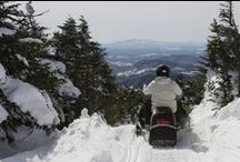 Snowmobiling in the Maine Woods
