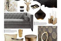 Black&White&Gold Decor