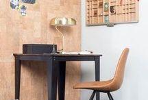 Werken / Sfeer- en inspiratiebeeld van werkplekken.  Thuiswerken in stijl.