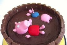 Peppa themed cakes! / Whether it's vanilla, chocolate, gluten free or filled with cream and jam, here are wonderful birthday cakes featuring Peppa and co!
