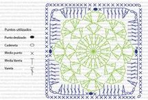 Vzorník - čtverečky / Háčkované čtverečky - vzory