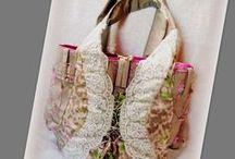 Romantikus táska - Judy Majoros / Újrafelhasznált alapanyagokból kézzel készült egyedi táska. Megtekinthető még:  www.facebook.com/judymajorosdesign oldalon. Köszönöm az érdeklődést! :) Handmade by Judy Majoros - Lace-tulle embroidered tote Bag. Recycled shoulder bag. Leopard-rose print.