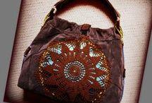 Barna bőrtáska - Judy Majoros / Újrafelhasznált alapanyagokból kézzel készült egyedi bőrtáska. Megtekinthető még:  a www.facebook.com/judymajorosdesign oldalon. Köszönöm az érdeklődést! :) Handmade by Judy Majoros - Leather-crochet boho bag.Recycled bag