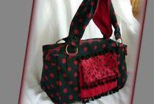 Pöttyös kézitáska - Judy Majoros / Újrafelhasznált alapanyagokból kézzel készült egyedi táska. megtekinthető még:  a www.facebook.com/judymajorosdesign oldalon. Köszönöm az érdeklődést! :) Handmade by Judy Majoros - Black-red polka dots handbag. Floral satin. Recycled bag