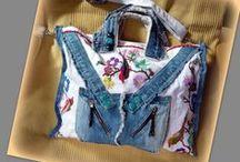 Hímzett farmertáska - Judy Majoros / Újrafelhasznált alapanyagokból kézzel készült egyedi táska. Megtekinthető a www.facebook.com/judymajorosdesign oldalon. Köszönöm az érdeklődést! :) Handmade by Judy Majoros - Denim bag embroidered with birds. crossbody bag. Recycled bag