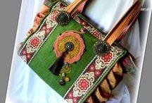Mediterrán táska - Judy Majoros / Újrafelhasznált alapanyagokból kézzel készült egyedi táska. Megtekinthető a www.facebook.com/judymajorosdesign oldalon. Köszönöm az érdeklődést! :) Handmade by Judy Majoros - Embroidered crochet fringe ruffles bag. Tote bag-shoulder bag.Recycled bag