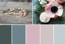 HOCHZEITSKONZEPT   Wedding Palette / Befor you start to book your location, to buy flowers/decoration or to think about the invitation - make a moodboard. Kind of a draft of what your wedding should look like. Find inspirations here.
