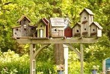 GARDEN,HOUSES FOR BIRDS = САД, домики для птиц