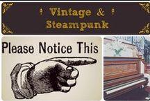 ↟ Vintage & Steampunk ↟ / I love vintage, nostalgia, sepia colors, antiques, and steampunk