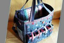Scrapbook táska farmerből - Judy Majoros / Újrafelhasznált alapanyagokból kézzel készült egyedi táska. Megtekinthető a www.facebook.com/judymajorosdesign oldalon. Köszönöm az érdeklődést! :) Handmade by Judy Majoros - Polka dots denim scrapbooking tote bag. Recycled bag. Materials:denim-cordura-rubber strap-velcro-lace-button-bead...
