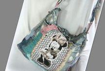 Minnie Mouse farmer táska - Judy Majoros / Újrafelhasznált alapanyagokból kézzel készített egyedi táska. megtekinthető még a www.facebook.com/judymajorosdesign oldalon. Köszönöm az érdeklődést! :) Handmade by Judy Majoros - Denim Minnie polka dots hobo bag. Recycled bag.
