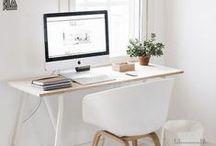 Arbeitszimmer / Office / Die besten Ideen für ein trendiges Home Office: An einem schönen Arbeitsplatz arbeitet es sich gleich viel besser!