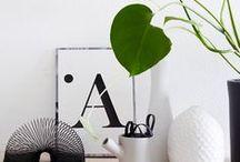 Deko / Decoration / So richtig rund wirkt die Einrichtung erst mit den richtigen Deko-Ideen. Hier geht es vor allem schlicht und skandinavisch zu mit vielen Grünpflanzen im Urban Jungle Stil...