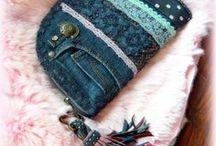 Csipkés-pöttyös farmer pénztárca-clutch -Judy Majoros / Újrafelhasznált alapanyagokból kézzel készített egyedi táska. megtekinthető még a www.facebook.com/judymajorosdesign oldalon. Köszönöm az érdeklődést! :)Handmade by Judy Majoros - Denim-lace wallet-clutch with polka dots and leather fringe. Recycled wallet-bag.