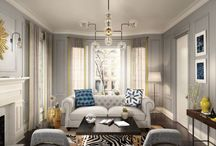 My Dream Option {M} New Traditional Living Room / Timeless and beautiful, Option {M} New Traditional is the epitome of refinement. Classic gets a facelift with these interior door and moulding combinations! Pin your ideal Option {M} New Traditional space for your chance to win a dream prize from Metrie. Find more details and contest rules visit: Metrie.com/Contest.