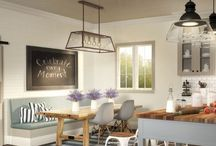 My Dream Option {M} Modern Farmhouse Eat-In Kitchen / There's no tradition like a family tradition with Option {M} Modern Farmhouse. Embracing togetherness, this style provides an authentic and inviting feel throughout a space. Enter our My Dream Option {M} Pinterest Contest for a chance to win. Find more details and contest rules at www.Metrie.com/Contest. Good luck!
