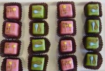 Custom Petits Fours / Creations from our NY bakery.