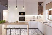 Cuisine décorations / Pleins d'idées de décoration pour une cuisine moderne et épurée.